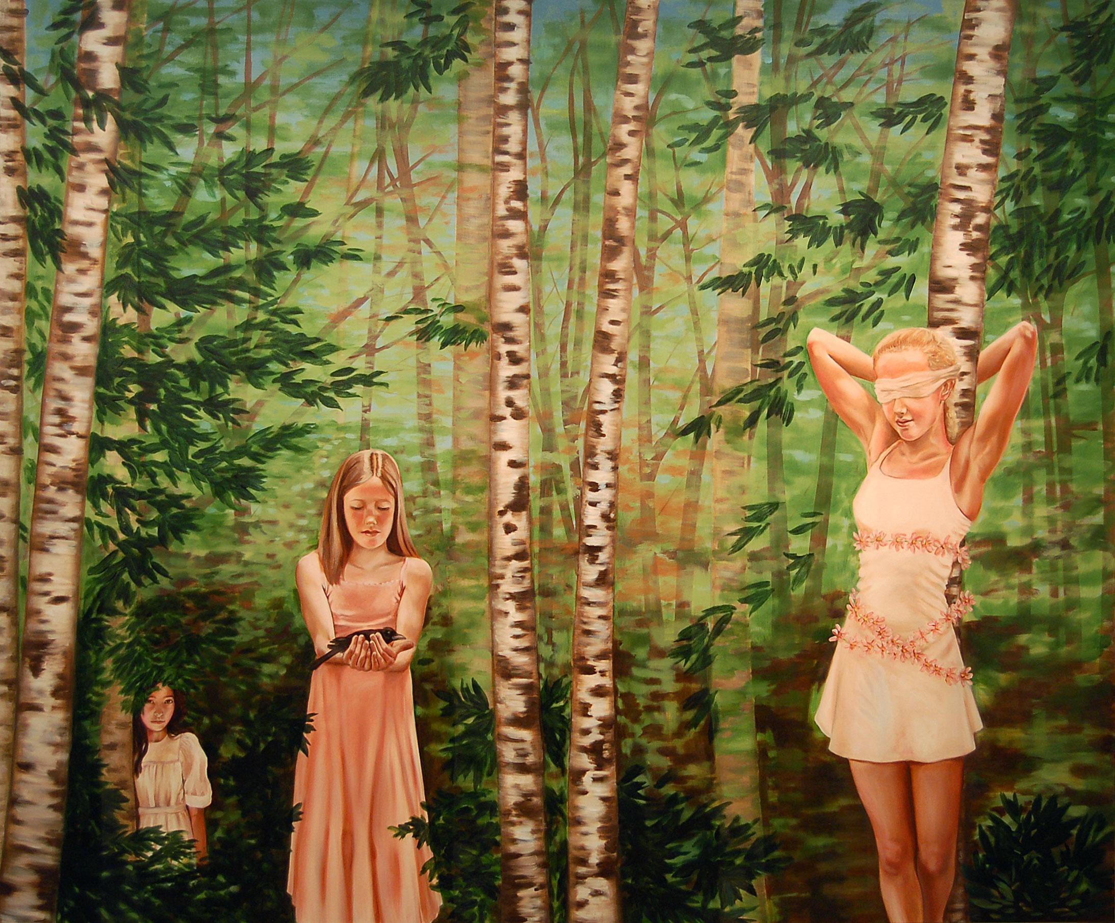 """Renee Lynch, Secret , oil on canvas , 60"""" x 72"""""""
